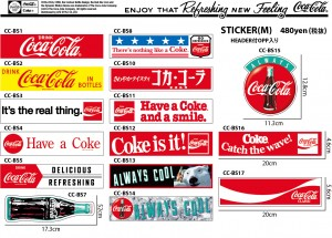 COKE STICKER M