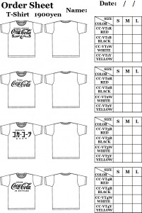 COKE T-SHIRT ORDER SHEET1