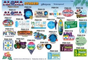 PA STICKER -Flights to Hawaii-